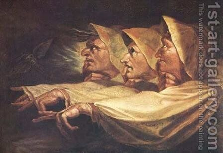 The Three Witches by Johann Henry Fuseli - Reproduction Oil Painting