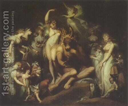 Titania and Bottom by Johann Henry Fuseli - Reproduction Oil Painting