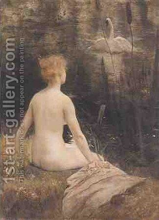 Leda and the Swan by Henri Gervex - Reproduction Oil Painting