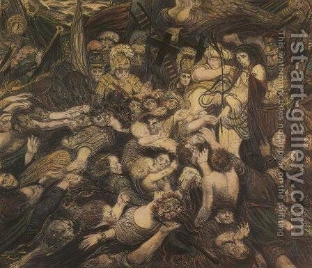 Christ Tormented by Henry de Groux - Reproduction Oil Painting