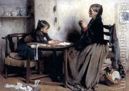 A Difficulty by Arthur Hacker - Reproduction Oil Painting