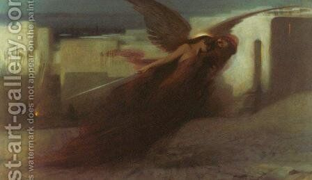 'And there was a great cry in Egypt' by Arthur Hacker - Reproduction Oil Painting