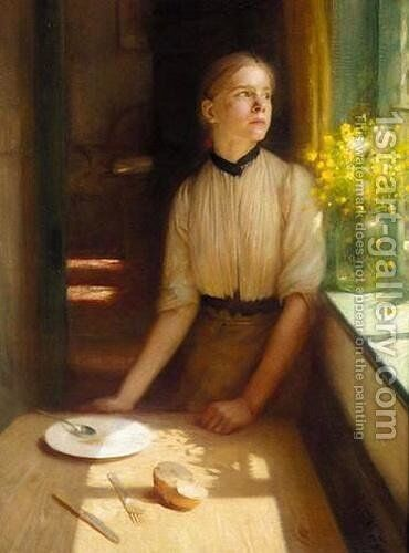Imprisoned Spring by Arthur Hacker - Reproduction Oil Painting