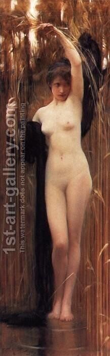 Syrinx by Arthur Hacker - Reproduction Oil Painting