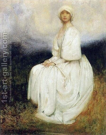 The Girl in White by Arthur Hacker - Reproduction Oil Painting