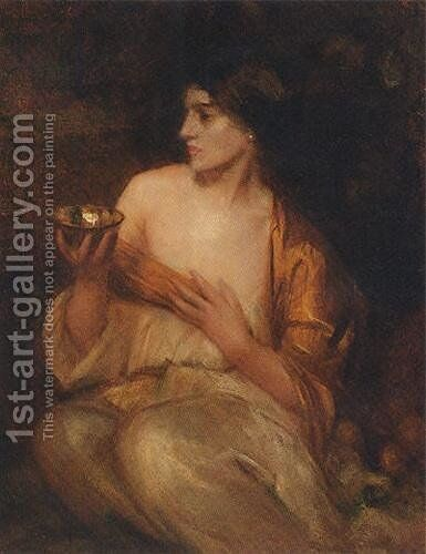 The Gold Bowl by Arthur Hacker - Reproduction Oil Painting