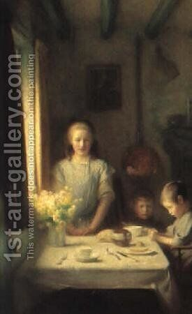 The little mother by Arthur Hacker - Reproduction Oil Painting