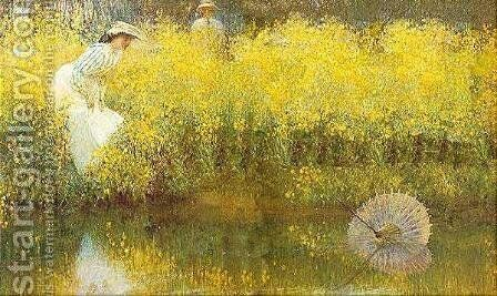 The Parasol by Arthur Hacker - Reproduction Oil Painting