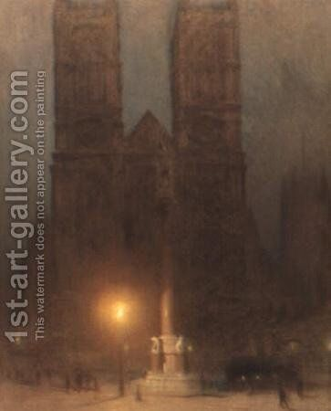 Westminster Abbey at night by Arthur Hacker - Reproduction Oil Painting