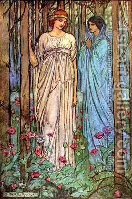A Dream of Fair Women by Emma Florence Harrison - Reproduction Oil Painting