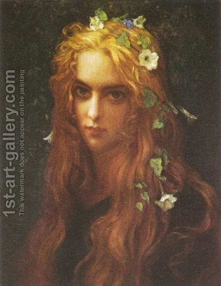 Ophelia by Antoine Auguste Ernest Hebert - Reproduction Oil Painting