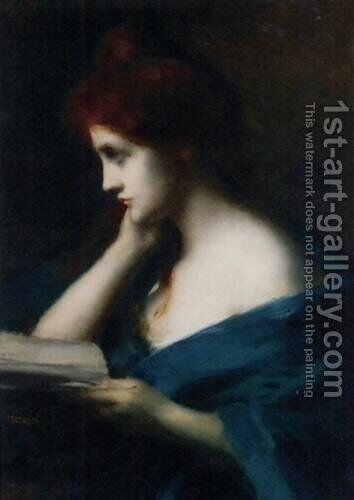 Melancholie by Jean-Jacques Henner - Reproduction Oil Painting