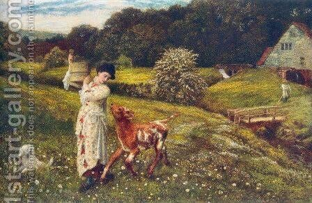 Returning Home by Arthur Hughes - Reproduction Oil Painting