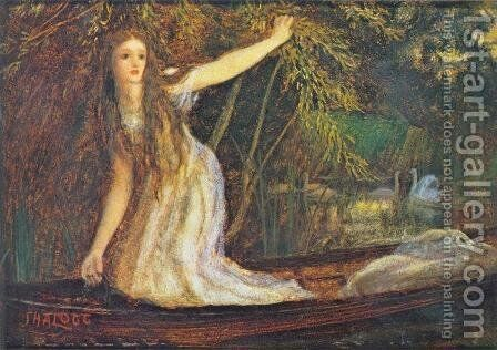 The Lady of Shalott II by Arthur Hughes - Reproduction Oil Painting