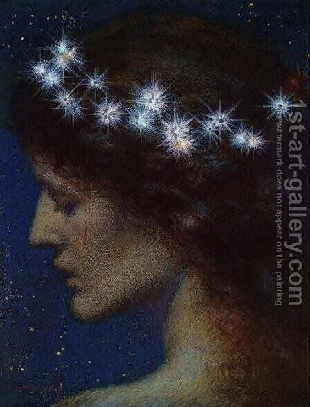 Night by Edward Robert Hughes R.W.S. - Reproduction Oil Painting