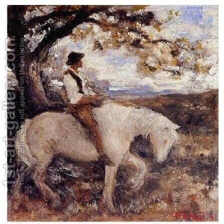 Pastoral (sketch) by Edward Robert Hughes R.W.S. - Reproduction Oil Painting