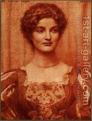 Portrait of Hilda Tebbs by Edward Robert Hughes R.W.S. - Reproduction Oil Painting