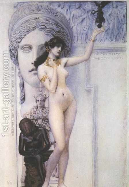 Allegory of Sculpture by Gustav Klimt - Reproduction Oil Painting