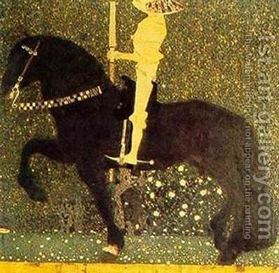 Gold Cavalier by Gustav Klimt - Reproduction Oil Painting