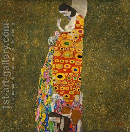 Hope II by Gustav Klimt - Reproduction Oil Painting