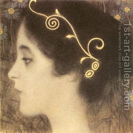 Sketch for the Allegory 'Junius' (detail) by Gustav Klimt - Reproduction Oil Painting
