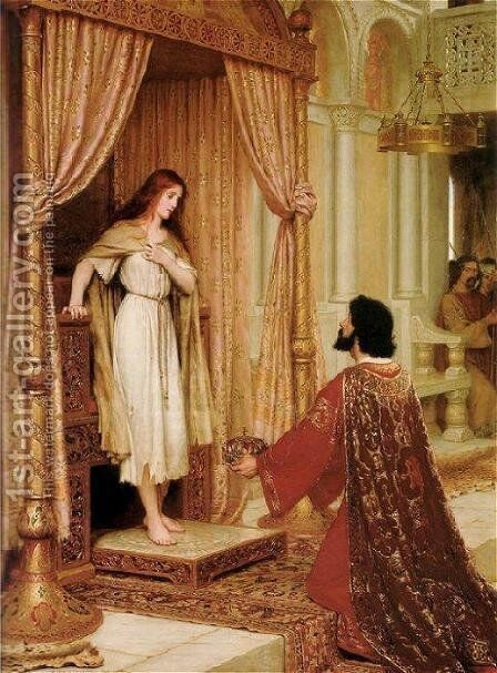 A King and a Beggar Maid by Edmund Blair Blair Leighton - Reproduction Oil Painting