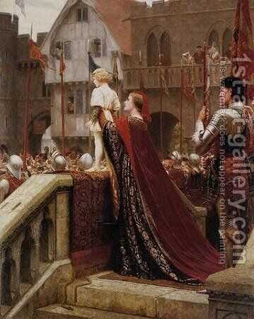 A little prince likely in time to bless a royal throne by Edmund Blair Blair Leighton - Reproduction Oil Painting