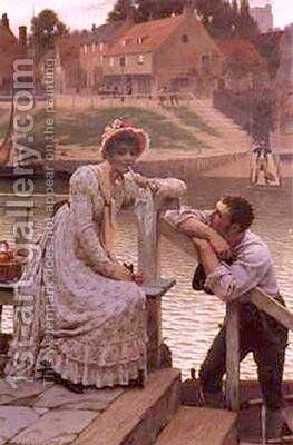 Courtship I by Edmund Blair Blair Leighton - Reproduction Oil Painting