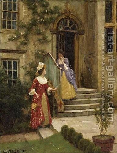 Gossip by Edmund Blair Blair Leighton - Reproduction Oil Painting