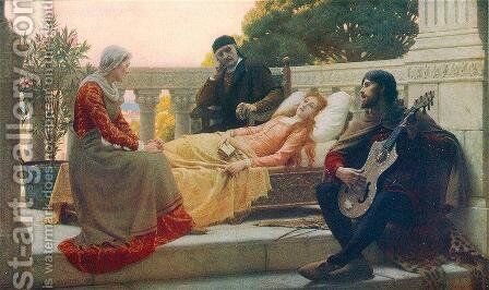 How Lisa Loved the King by Edmund Blair Blair Leighton - Reproduction Oil Painting