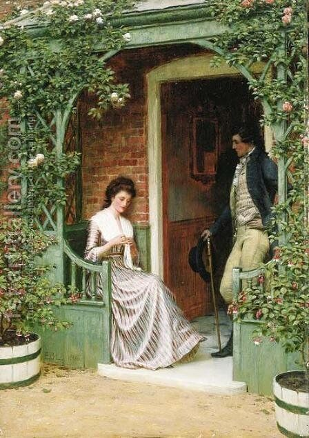 The Proposal by Edmund Blair Blair Leighton - Reproduction Oil Painting