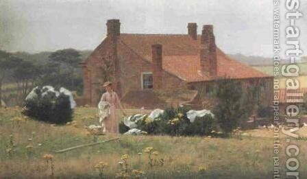 Wash Day by Edmund Blair Blair Leighton - Reproduction Oil Painting