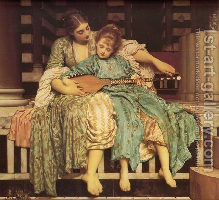 The Music Lesson by Lord Frederick Leighton - Reproduction Oil Painting