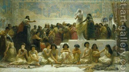 The Babylonian Marriage Market by Edwin Longsden Long - Reproduction Oil Painting
