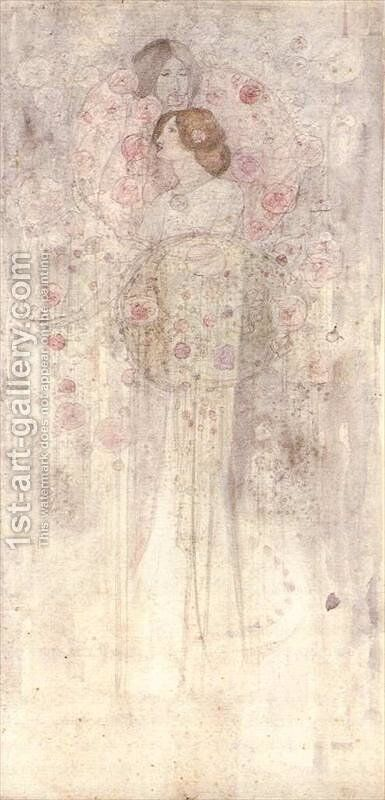 Fairies by Charles Rennie Mackintosh - Reproduction Oil Painting