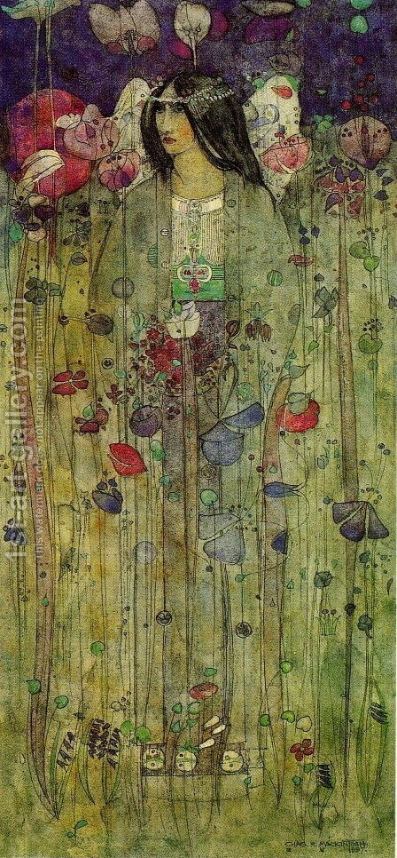 In Fairyland by Charles Rennie Mackintosh - Reproduction Oil Painting