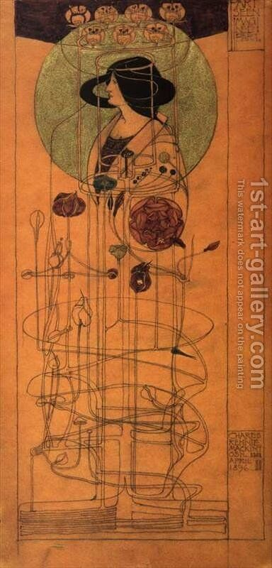 Part Seen, Part Imagined by Charles Rennie Mackintosh - Reproduction Oil Painting