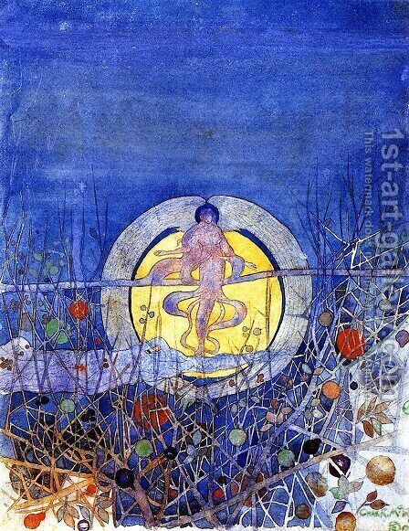 The Harvest Moon by Charles Rennie Mackintosh - Reproduction Oil Painting