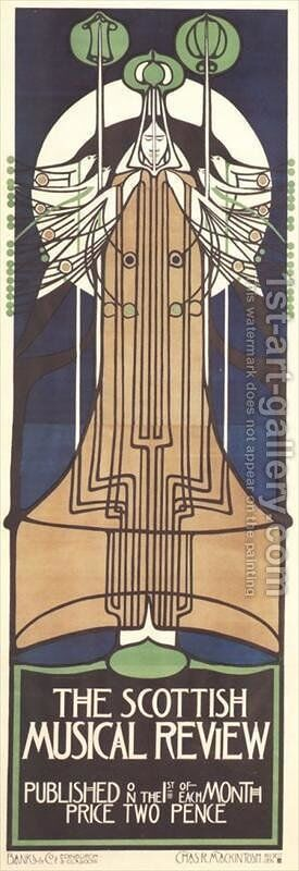 The Scottish Musical Review by Charles Rennie Mackintosh - Reproduction Oil Painting