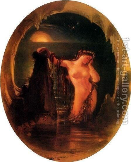 The Origin of the Harp by Daniel Maclise - Reproduction Oil Painting