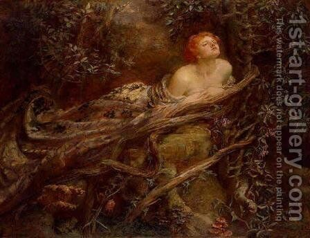 Lamia, The Serpent Woman by Anna Lea Merritt - Reproduction Oil Painting
