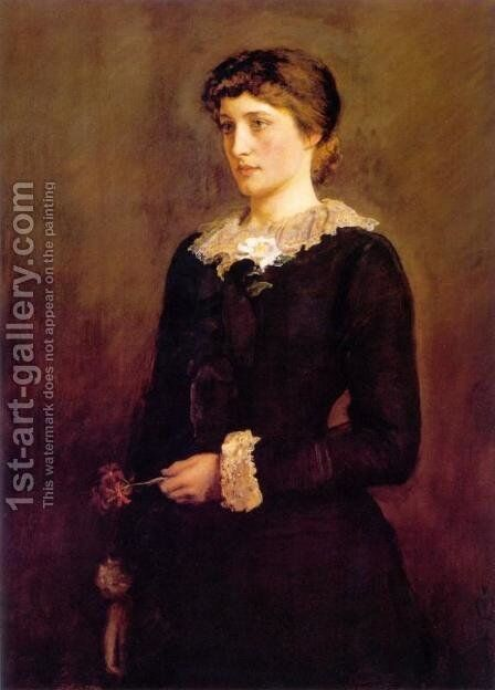 A Jersey Lilly (Lillie Langtry) by Sir John Everett Millais - Reproduction Oil Painting