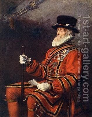 A Yeoman of the Guard by Sir John Everett Millais - Reproduction Oil Painting