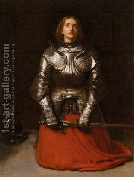 Joan of Arc by Sir John Everett Millais - Reproduction Oil Painting
