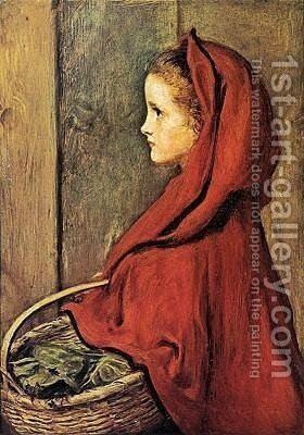 Red Riding Hood by Sir John Everett Millais - Reproduction Oil Painting