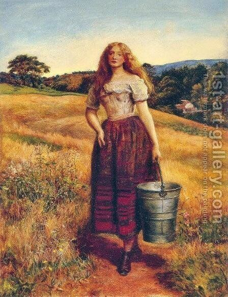 The Farmer's Daughter by Sir John Everett Millais - Reproduction Oil Painting