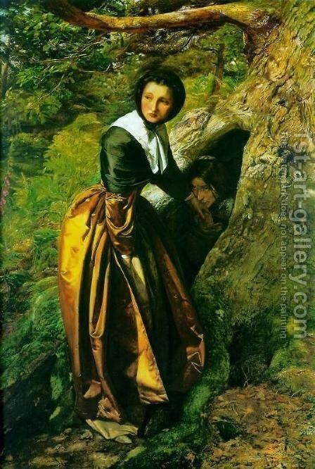The Proscribed Royalist, 1651 by Sir John Everett Millais - Reproduction Oil Painting