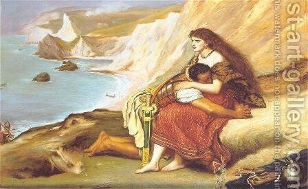 The Romans Leaving Britain by Sir John Everett Millais - Reproduction Oil Painting