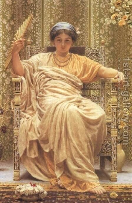 A Revery by Albert Joseph Moore - Reproduction Oil Painting
