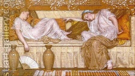 A Sofa by Albert Joseph Moore - Reproduction Oil Painting